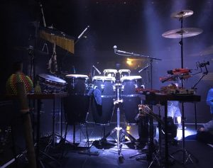 Percussion set up